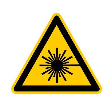 Hinweisschild Laser, selbstklebend, SL 100mm