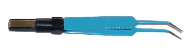 Bipolare Pinzette, 11,5cm, gewinkelte Spitze 0,5mm