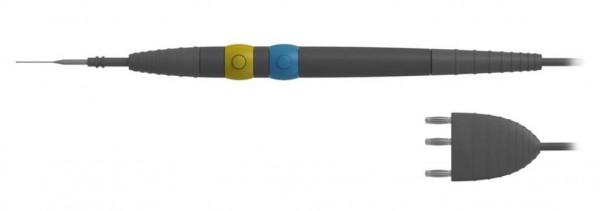 Monopolarer Elektrodenhalter mit Taster für CUT & COAG mit integrierter Anschlussleitung